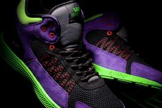 The new Owen Mid with purple microfiber, black open cell mesh, lime green jersey mesh, black TPR heel cup, red/black nylon lace supports, red and lime green accents, black/red rope laces, grey jersey mesh tongue, padded black mesh lining, lime green SUPRAFOAM with purple speckles and black traction pods.