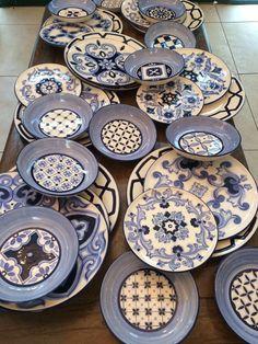 Aparelho de jantar desenho azulejos potugueses