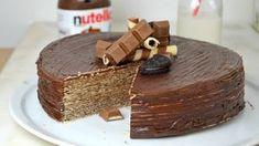 Tarta facil de Nutella y obleas.