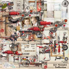 Boy Mechanic Collection by Palvinka Designs | Digital Scrapbook @ at The Digichick