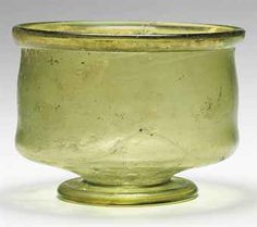 A MEROVINGIAN OR RHENISH GLASS BOWL  - CIRCA 5TH-6TH CENTURY A.D.  Source: Christies