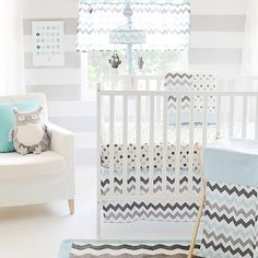 Love ---  My Baby Sam Chevron 3 Piece Crib Bedding Set, Aqua/Gray My Baby Sam,http://www.amazon.com/dp/B00EV1FEYG/ref=cm_sw_r_pi_dp_b0EXsb08EGAYF4N4