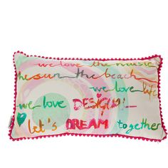 Desigual Summer Party Cushion - 30x50cm ($32) ❤ liked on Polyvore