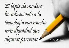 El lápiz, más digno que algunas personas.