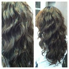 Never heard of a Digital Perm before. I really like the softness of the curls. Never heard of a Di Permed Hairstyles, Pretty Hairstyles, Easy Hairstyles, Beauty Tips For Hair, Hair Beauty, Digital Perm, Perm Hair, Hair Perms, Really Long Hair