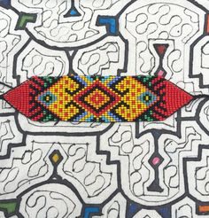 OOAK Into Divine Remembrance Indigenous Beaded por BountifulGaia Beading Patterns Free, Bead Loom Patterns, Peyote Patterns, Collar Indio, Bead Crafts, Diy And Crafts, Bead Loom Bracelets, Brick Patterns, Bijoux Diy