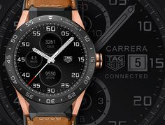 The new TAG Heuer Connected smartwatch now available in 18k rose gold with images, price, background, specs, & our expert analysis.