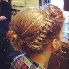 dutch braid around the head