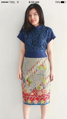 Pin by De Wulan on klambi batik  Pinterest  Kebaya Batik dress