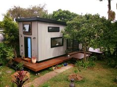 From Byron Bay, Australia is the 10' wide Zen Tiny Home. It combines Japanese and Scandinavian influences to create a modern style with relaxing atmosphere.