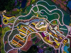 Drone photos - 'Earth Graffiti,' Shaoguan, Guangdong, China Courtesy Xu Yuhong/SkyPixel  via @AOL_Lifestyle Read more: http://www.aol.com/article/2015/11/25/15-drone-photos-that-leave-us-speechless/21272199/?a_dgi=aolshare_pinterest#fullscreen