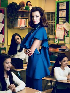 SARAH RUBA PLAYS A CHIC TEACHER IN ELLE MEXICO'S APRIL ISSUE BY YOSSI MICHAELI interesting piece