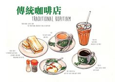 Food Illustration & Drawing on Behance by Ong Siew Guet