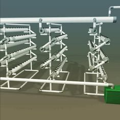 Computer Generated Hydroponics System. Throw in some Rockwool and Call it a Day!!