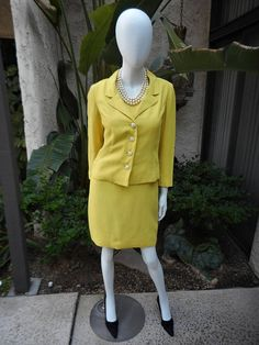 Vintage 1960's Eloise Curtis for David Styne Yellew Dress
