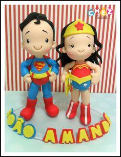 Topo de bolo com um personagem = nome aniversariante= base de acrilico. <br> <br>Topo de bolo com 2 personagens R$ 140,00 <br> <br>Podemos fazer os outros heróis.