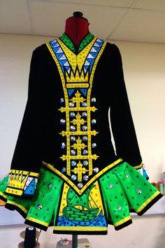 Striking colors, Irish Dance dress by Celtic Star