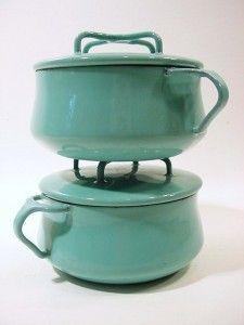 Dansk enamelware in turquoise