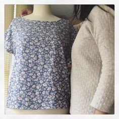 I  refashioned a tunic (pattern form Stylish Dress Book) into a simple top (pattern from Prima mag 1993). The tunic was fine it was just not perfect (one of my first garment makes couple years ago). Day 23 #mmmay16 with another repeat of thick #hemlocktee (it's cold this hemlock saves me!). #jeportecequejecouds #sewing #refashion by moisitha