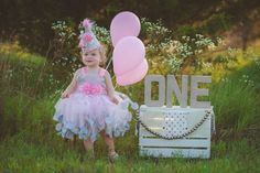 Pink and Silver 1st Birthday Dress - Pink and Silver Flower Girl Dress - Birthday Hat - First Birthday Dress - Birthday Tutu - Cake Smash by AllDressedUpCouture on Etsy