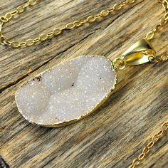 Large Druzy Necklace, Large Druzy Pendant, Druzy #jewelry #necklace @EtsyMktgTool http://etsy.me/2bYTDuH