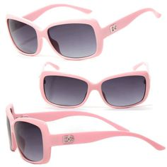 ec5ddc4c5d1f Womens Dg Sunglasses W  Free Pouch - Pink Frame Shaded Black Lens Dg 131