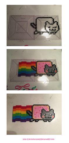 Nyan Cat Perler Beads by Kirbyfan1234