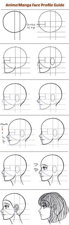 How to Draw the Side of a Face in Manga Style: