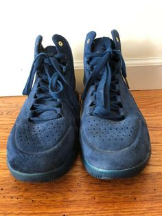 4a08bdfd60 Under Armour Curry 1 Lux Suede Navy Gold Size 10 Without Box In Great  Condition #