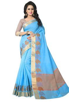 Sky Blue Banarasi Art Silk Designer Saree #artsilk #artsilksaree #artsilksari #sareeonilne #onlinesari #dress #onlineindiandress #sale#nikvik #freeshipping #usa #australia #canada #newzeland #Uk #UAE