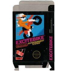 Excitebike - Empty NES Box