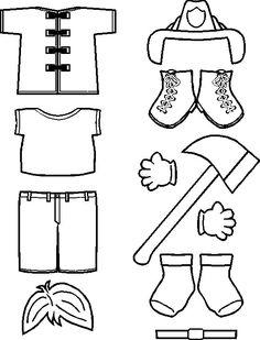paper doll Fireman Friends clothes