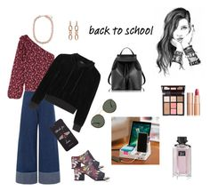 """""""Back to School Jeans and Mini Floral Top (contest)"""" by scolab ❤ liked on Polyvore featuring Sea, New York, 3.1 Phillip Lim, Gucci, Alexander Wang, Ray-Ban, Ulla Johnson, Vetements, Accessorize, Le Parmentier and GE"""