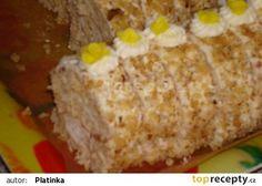 Ořechová roláda s ananasem recept - TopRecepty.cz Krispie Treats, Rice Krispies, Desserts, Food, Pineapple, Tailgate Desserts, Deserts, Essen, Postres