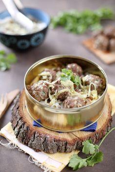 Curry de boulettes de boeuf à la coriandre
