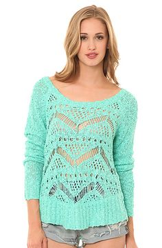 The Cape Town Slub Weave Sweater in Mermaid Green by ONeill