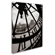 """Trademark Fine Art """"Big Clock"""" by Chris Bliss Photographic Print on Wrapped Canvas"""