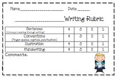 The wonderful world of writing!  Writing prompts and writing rubric (free!!)
