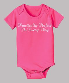 Take a look at this Raspberry 'Practically Perfect' Bodysuit - Infant on zulily today!