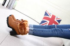 Made from premium faux PU leather (no animals harmed), plush and rubber. Heel height: Free Worldwide Shipping & Money-Back Guarantee US SIZE EU SIZE LENGTH 4 35 5 36 9 6 37 7 38 8 39 Note: Sizes are in inches. Winter Fashion Boots, Winter Shoes, Fur Boots, Lace Up Boots, Brown Ankle Boots, Knee Boots, Cute Snow Boots, Womens High Heels, Me Too Shoes