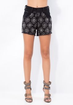 SHORT HIGH SLIM - PRETO / 32