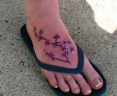 cherry blossom tattoos | cherry blossom foot tattoo | Flickr - Photo Sharing!