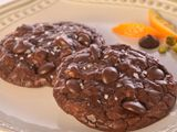 Dark Chocolate Truffle Cookies with Pistachios, Orange & Sea Salt