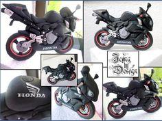 Honda motorbike cake topper - Cake by Jennifer