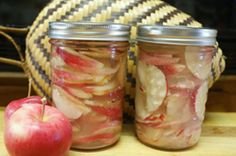 Fermented apple slices make great garnishes for sandwiches and winter salads