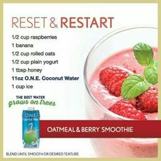 Oatmeal/berry smoothie