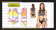 Tutorial & Free Pattern for Cropped Curtinha Swim Top