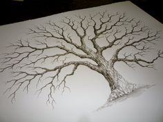 Extra Large Oak Wedding Guest book tree  28x22 by LastingKeepsakes, $130.00