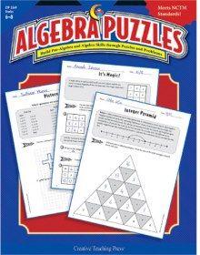 Algebra Puzzles - Build pre-algebra and #algebra skills through puzzles and problems.
