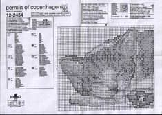 Gallery.ru / Permin #12-2454 Sleeping Cat - Permin 12-2453, Permin 12-2455, Permin 12-2454 - natalytretyak